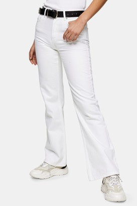 Topshop Womens Two White 90S Flare Jeans - White