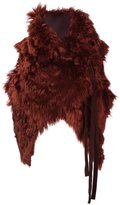 Ann Demeulemeester reversible cropped waistcoat - women - Cotton/Rayon/Lama Fur - S