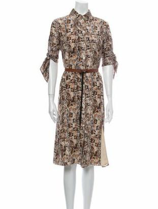 Altuzarra Silk Midi Length Dress w/ Tags Metallic