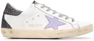 Golden Goose Superstar glittery-heel sneakers