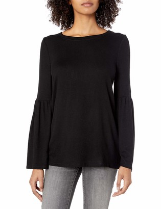 Kensie Women's Plush Touch Bell Sleeve Sweater