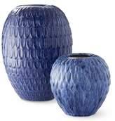 Williams-Sonoma Williams Sonoma Blue Feather Vase