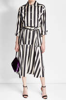 Nina Ricci Striped Silk Midi Skirt