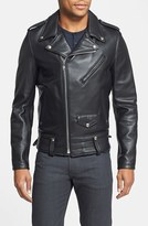 Schott NYC Men's 'Chips' Slim Fit Moto Leather Jacket