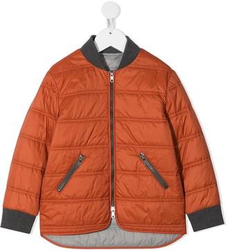 BRUNELLO CUCINELLI KIDS Zipped Padded Coat