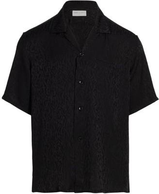 Saint Laurent Silk Jacquard Short-Sleeve Shirt