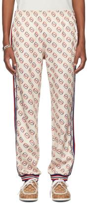 Gucci Off-White Interlocking G Print Lounge Pants