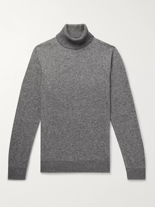 Loro Piana Cashmere and Silk-Blend Rollneck Sweater - Men - Gray