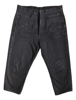 Rick Owens Black Denim - Jeans Trousers
