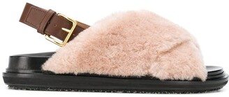 Marni Fussbet fur sandals