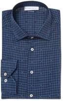 Etro Men's Embroidered Gingham Dress Shirt