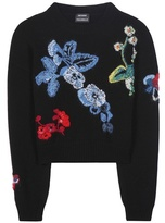 Anthony Vaccarello Embroidered Wool And Cashmere Sweater