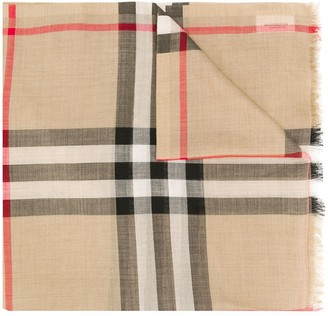 Burberry lightweight check scarf