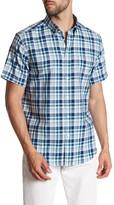 Ben Sherman Plaid Short Sleeve Regular Fit Shirt