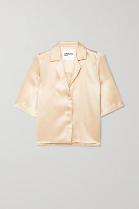 Orseund Iris Le Funk Silk-satin Shirt - Cream