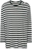 Yohji Yamamoto oversized striped long sleeve T-shirt