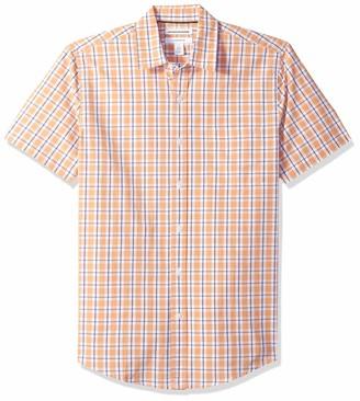 Amazon Essentials Slim-fit Short-sleeve Stripe Shirt Button