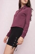 Garage Side Lace-Up Fleece Skirt