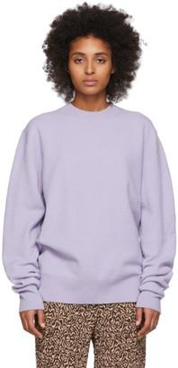 Nanushka Purple Felted Wool Virote Sweater
