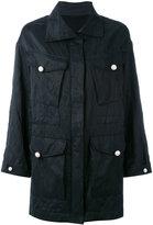 Ermanno Scervino flap pocket parka - women - Silk/Cotton/Acetate/Metallic Fibre - 38