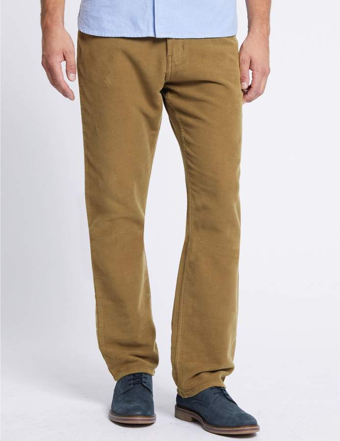 Marks and Spencer Italian Moleskin Regular Fit 5 Pocket Trousers