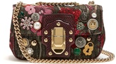 Dolce & Gabbana Lucia embellished jacquard shoulder bag