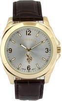U.S. Polo Assn. USPA Mens Brown Strap Watch-Usc50011