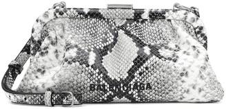 Balenciaga Cloud XS snake-effect leather clutch