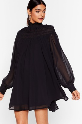 Nasty Gal Womens Swing Around Chiffon Mini Dress - Black - 6