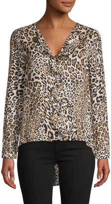 Supply & Demand Alma Leopard-Print Blouse