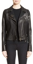 Versace Women's Asymmetrical Zip Leather Jacket