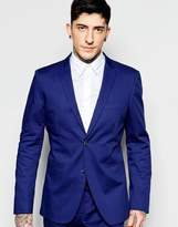 Sisley Slim Fit Suit Jacket In Cobalt Blue