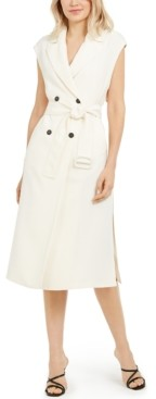 Marella Sleeveless Belted Trench Dress