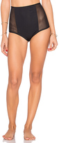 Mara Hoffman Mesh Side High Waist Bottom