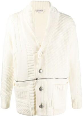 Alexander McQueen Panelled Zipped Cardigan