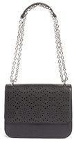 Chelsea28 Dahlia Perforated Faux Leather Shoulder Bag - Black