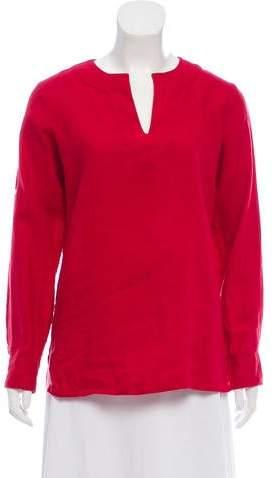 Lauren Ralph Lauren Long Sleeve V-Neck Tunic