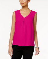 Kasper Sleeveless V-Neck Top