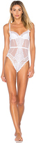 L'Agent by Agent Provocateur Reia Wired Bodysuit in White