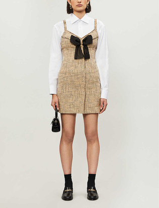 Sandro Soane cotton-blend mini dress