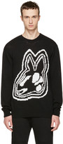 McQ by Alexander McQueen Black Intarsia Bunny Sweater
