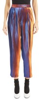 Dries Van Noten Women's Two-Tone Lame Crop Trousers
