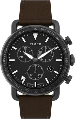 Timex Port Chronograph Leather Strap Watch, 42mm