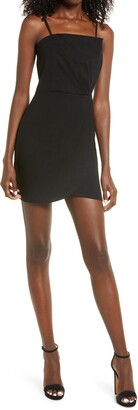 Lulus Drinks on Me Pleat Bodice Minidress