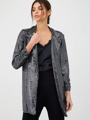 Very Sequin Blazer - Silver
