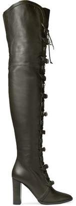 Jimmy Choo Maloy 95 Buckled Leather Over-the-knee Boots
