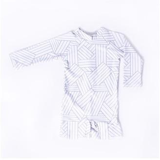 Current Tyed Geometric Upf 50 Swim Suit 2t