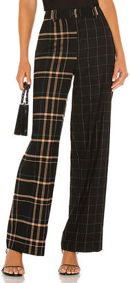 1 STATE Mixed Print Wide Leg Pant