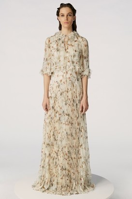 Jason Wu Collection Printed Silk Crinkle Chiffon Gown