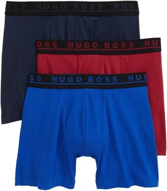 HUGO BOSS Assorted 3-Pack Stretch Cotton Boxer Briefs